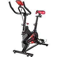 Preisvergleich für GORILLA SPORTS® Indoor Cycling Bike mit 6 kg Schwungrad – Heimtrainer Fahrrad mit Trainingscomputer und bis 100 kg belastbar