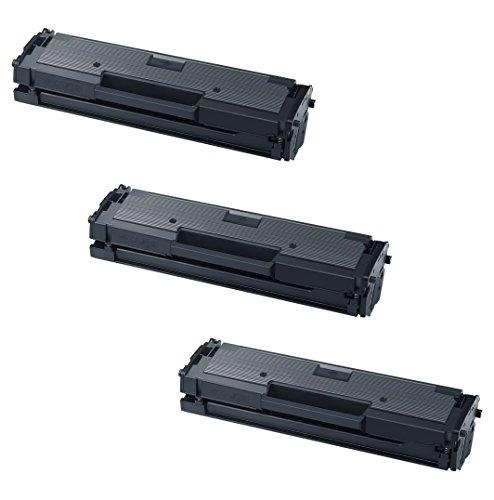 3 Toner Compatibili per Samsung Xpress M2020 W, M2021 W, M2022 W, M2026 W, M2070 W FW F FH HW, M2071 W FH HW, M2078 W Serie | MLT-D111S/ELS, Colore: Nero