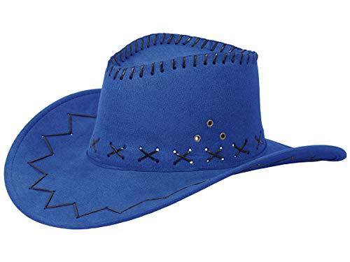 Alsino Cowboyhut Westernhut in One Size Größe aus Polyester, Blau (26)