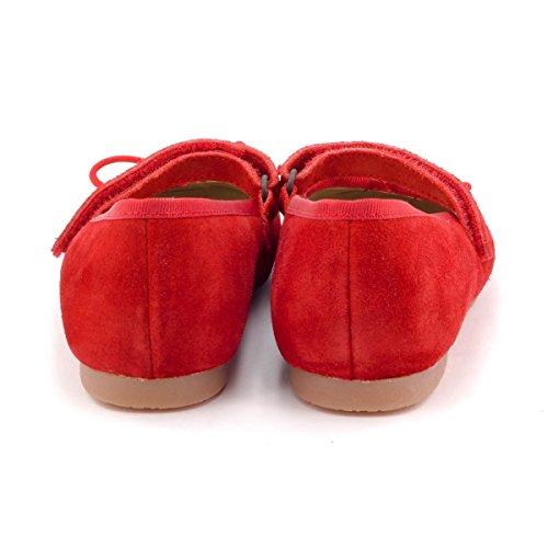 Boni Marguerite - Ballerine Filles Scratch Daim Rouge