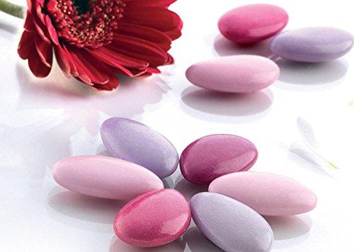 Confetti buratti al cioccolato multicolor sfumati 1 kg (lilla - primavera)