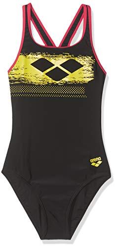 ARENA Scratchy - Bañador Deportivo para niña, Niñas, 001330, Black-Freak Rose, 152