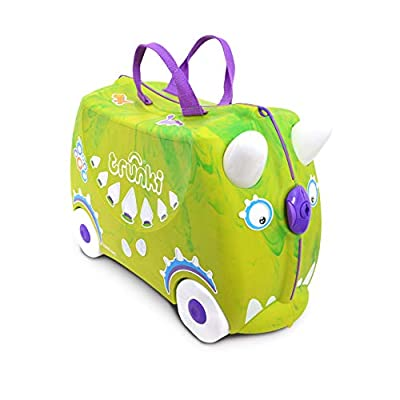 Trunki Children's Ride-On Suitcase: Trunkisaurus Rex (Green)