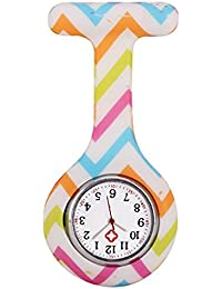 OVVO Reloj creativo para enfermeras, caja colorida, diseño de silicona, reloj de goma