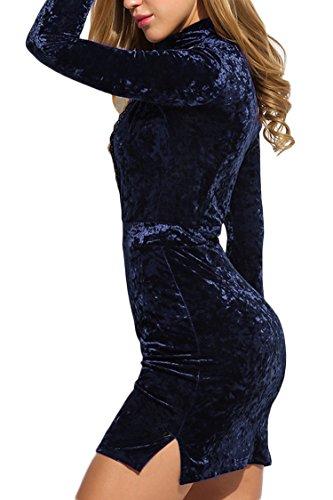 ... MEXI Damen V-Ausschnitt Bleistiftkleid Business Kleid Retro Abendkleid  Bodycon Kleider 32-46 Style ...