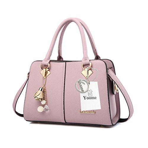 Yoome Hardware Ciondolo Lichee Top Pattern Handle Satchel Per Donna Borsa Elegante Borse Donna - L.Purple L.Purple