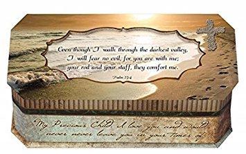 Cottage Garden 129409 Boîte à musique – I will Fear No Evil et Impressionnante Grace-footprints-petite