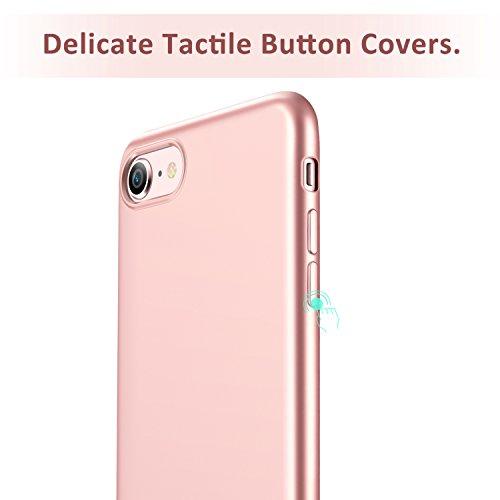 ESR iPhone 8 Hülle, iPhone 7 Hülle, Slim Fit [Ultra Dünn] Matt Lack [Stoßfest, Anti-Rutsch, Anti-Kratzer] Schutzhülle für Apple iPhone 8/7 4.7 Zoll 2017 Freigegeben. (Schwarz) Rose Gold