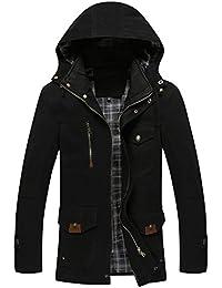 Nouveau automne et hiver hommes 's Décontractée Pour Homme Coton longue Veste à capuche pour homme