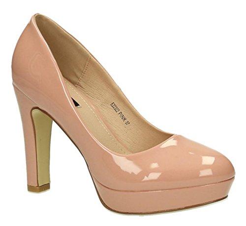 Klassische Damen Lack Pumps Stilettos High Heels Plateau Abend Schuhe Bequem 22 (39, - Damen Abend Sexy Party Hochzeit