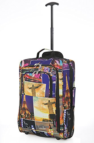 5 Cities , Trolley multicolore Night Cities 55 cm