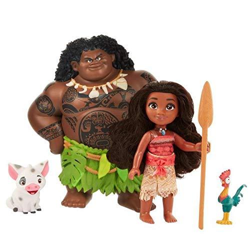 Jakks Pacific - Caja 4 Figuras Oceania Vaiana Maui Pua...