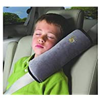 Shoulder Pad Car Shoulder Neck Strap Pillow Safety Seat Belt Cushion,Grey