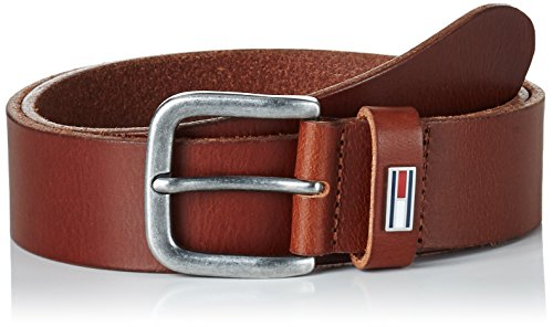 Tan Herren Jeans (Hilfiger Denim Herren Gürtel Thd Flag Loop Belt 4.0, Braun (Dark Tan 253), 95 cm)