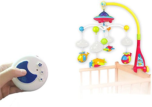 Goappugo Musical Cot Mobile Toy With Remote Control And Night Projection
