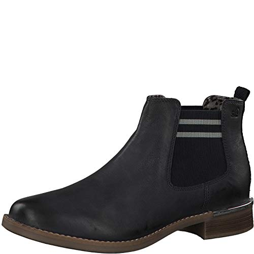 eletten 25335-33, Frauen Chelsea Boots, Woman Freizeit leger Stiefel halbstiefel Bootie Schlupfstiefel flach,Navy,38 EU / 5 UK ()