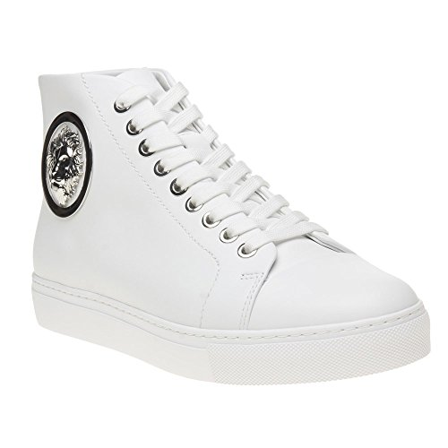 Versus Lion Hi-Top Femme Baskets Mode Blanc Blanc