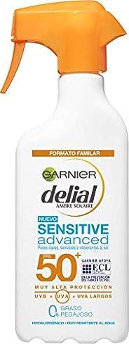 Garnier Delial Sensitive Advanced - Leche Solar para Pieles Claras, Sensibles e Intolerantes al Sol, IP50+ - 3