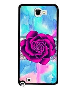 PrintVisa Designer Back Case Cover for Samsung Galaxy Note N7000 :: Samsung Galaxy Note I9220 :: Samsung Galaxy Note 1 :: Samsung Galaxy Note Gt-N7000 (Floral Decoration Art Illustration Light Backdrop )
