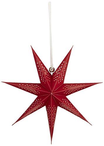 American Crafts Heidi Swapp Sept points Star Lanterne en papier rouge 28, acrylique, multicolore