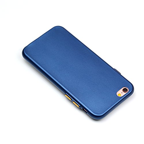 iPhone 6 Plus Coque, Voguecase TPU avec Absorption de Choc, Etui Silicone Souple Transparent, Légère / Ajustement Parfait Coque Shell Housse Cover pour Apple iPhone 6 Plus/6S Plus 5.5 (Bouton peinture Bouton peinture-Bleu