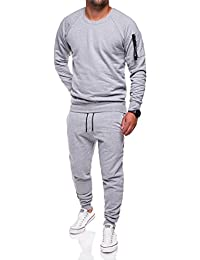 MT Styles ensemble pantalon de sport + sweat-Shirt jogging survêtement TA-02