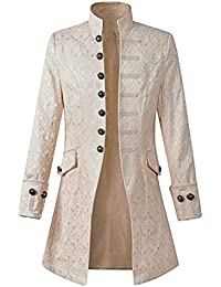 Decha Herren Frack Jacke Retro Gothic Steampunk Uniform Kostüm  Viktorianisch Abendkleid Praty Swallowtail Bühnenjacke Mittellang Outwear ce8e8e50f1