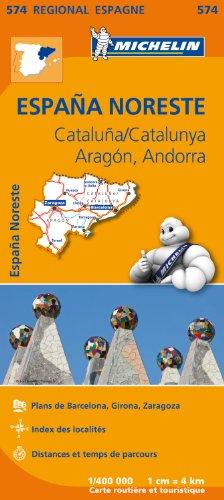 Carte Espagne Catalogne, Aragon, Andorre Michelin par Collectif MICHELIN