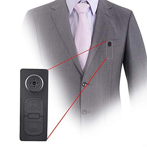 V.T.I. Mini DV Spy Shirt Button Concealed Camera with 16gb Expandable Memory