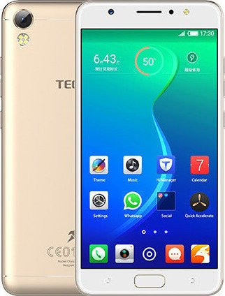TECNO i3 Dual Sim Android 7.0 Nougat Mobile Phone with 1.3 GHz MediaTek MT6737 Processor, 8 MP 5-inch Screen (Champagne Gold,16 GB)