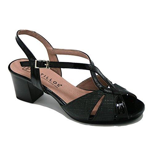 PITILLOS, Sandali donna nero Size: 36