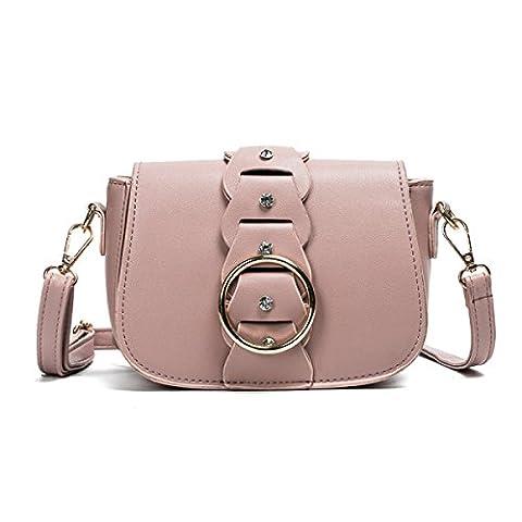 FZHLY Nouveau Printemps Et D'été Sacs à Main Simple Diamant De Mode Sac à Bandoulière,Pink