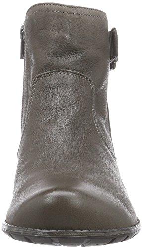 Think DENK Damen Biker Boots Braun (SCHLAMM/KOMBI 27)