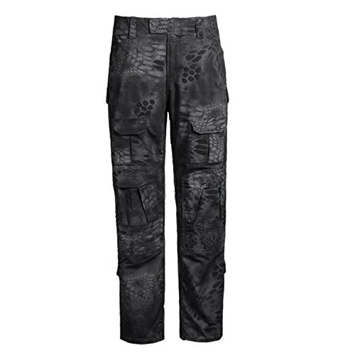 Military Army Camo (QMFIVE Army Trousers, Men's Shooting Camo Combat BDU Combat Pants Trousers for Tactical Military Army Airsoft Paintball)