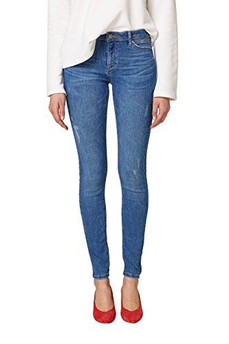 ESPRIT Damen Skinny Jeans 038EE1B023, Blau (Blue Light Wash 903), 25/30