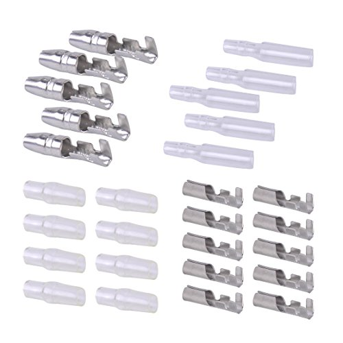 Preisvergleich Produktbild beler 50 Sets Universal 4mm Male Female Bullet Wire Terminal Crimp Butt Connector Isolierte Abdeckung