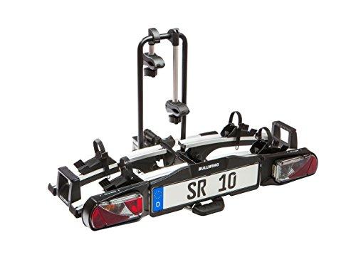 Bullwing SR10 Auto Fahrradträger Heckträger für 2 Fahrräder mit Anhängerkupplung Fahrradheckträger Kupplungsträger Fahrradhalter Kupplung Klappbar großer Abklappwinkel