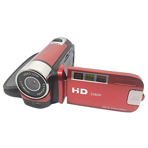 Digitalkamera 16mp Ultra-HD-Kamera 180-Grad-Drehung Flip-Screen-Kamera SLR 4X Digitalzoomrot (Slr-kamera Flip Screen)