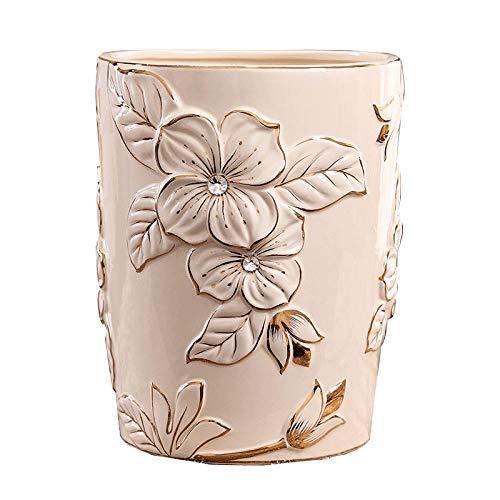 Jarrón de Ceramica Decoración de Porcelana Bote de Basura de cerámica hogar Sala de Estar Paraguas Cesta Flor Cubo Dormitorio Bote de Basura