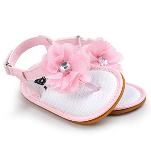 Igemy Baby Blume Perle Sandalen Kleinkind Prinzessin Zuerst Wanderer Mädchen Kind Schuhe Pink