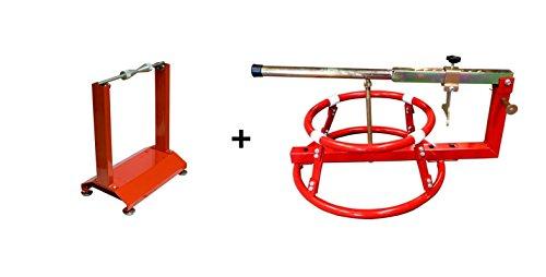 WBYC RicambiWeiss Auswuchtgerät + Reifenmontage Set Auswuchtgerät Wuchtbock Reifenmontiergerät Motorrad