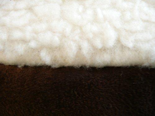 Ellie-Bo Hundebett, orthopädisch, Matratze aus viskoelastischem Kaltschaum / Memory-Schaum, Bezug aus Velourslederimitat / Schaffell, 106.7cm, braun - 2