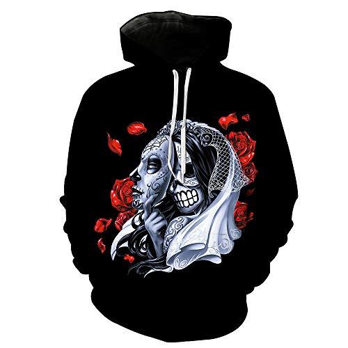 ostüm europäische und amerikanische Weihnachten Digital Print Hooded Pocket Hooded männlichen Tide Hooded Herrenbekleidung ()