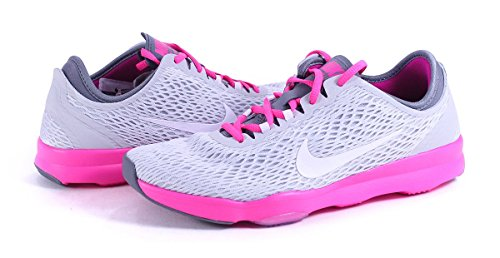 Nike Wmns Zoom Fit, Chaussures de Tennis Femme, Talla gris/rose