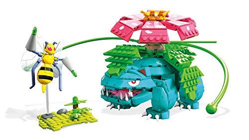 Mega Construx Pokemon Figuras Venesaur vs. Beedrill Duel, Juguetes de Construcción Niños +6 Años (Mattel FVK76)