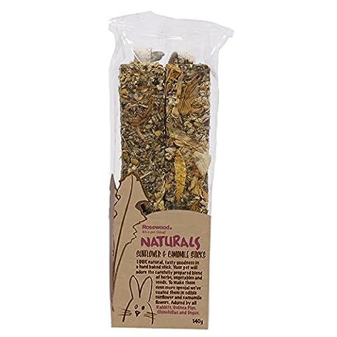 Rosewood Boredom Breaker Natural Treat Sunflower and Chamomile Sticks