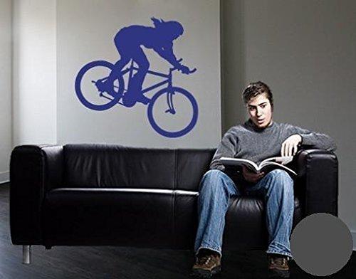 Klebefieber Wandtattoo Mountainbike B x H: 40cm x 40cm Farbe: Dunkelgrau