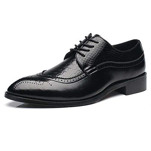 Herren Oxford Schuhe Leder Lace Up wies bequemes Kleid Schuhe City Work Schuhe (Converse Und Kleider)