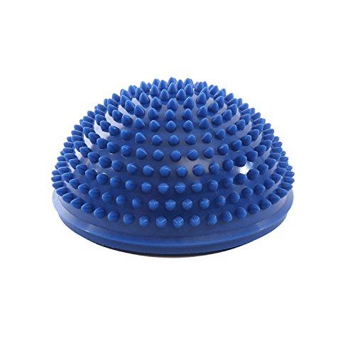 Igelball Massagebälle Halbkugel 16x9cm Triggerpunkt Körper Sport Balance Farbenauswahl - blau (übung Balance-halbkugel)