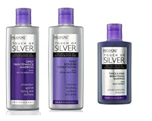 Pro:Voke Set Of 3 - Touch Of Silver - Silver Daily Maintenance Shampoo 200Ml, Daily Nourish Conditioner 200Ml & Twice A Week Brightening Shampoo 150Ml by Pro:Voke
